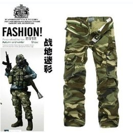 Wholesale Buy Loose Pants - Wholesale-Group-buying!!!! Hot Selling brand Men's Pocket army camouflage pants men