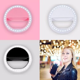 Wholesale Camera Phone Photography - Selfie Portable Flash Led Camera Phone Ring Light Enhancing Photography for Smartphone iPhone Samsung with Package
