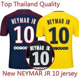 Wholesale Soccer Jerseys Uniforms Football - NEYMAR JR 10 MBAPPE CAVANI DI MARIA VERRATTI DANI ALVES Shirt Home blue Away Third black 17 18 Soccer Jerseys Football Uniforms Kit