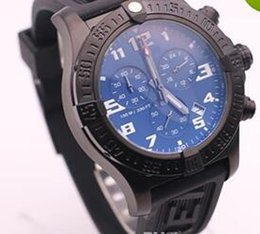 Wholesale Black Steel Avenger - AAA selected supplier jason6688 luxury brand new watches men avenger seawolf chrono blue dial rubber belt watch quartz watch mens watches
