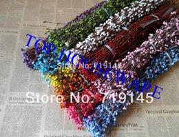 Wholesale Decorative Stems - Festive Party Supplies Decorative Flowers Wreaths 9COLORS AVAILABLE PIP BERRY STEM FOR DIY WREATH GARLAND ACCESSORY,Floral Fillers
