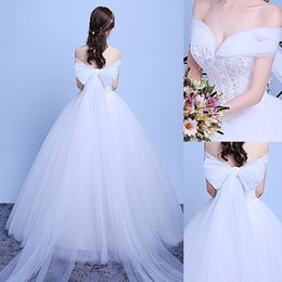Discount backless wedding dress veils - 2016 New The Bride Fashion Sexy White Lace Sequined Sweetheart Sleeveless A-line Wedding Dress with Long Veil Two Wearing Styles