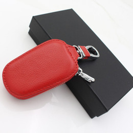 Wholesale Bmw Leather Holder - Car Leather key Bag Cases for Opel Hyundai toyota LADA bmw e39 e46 Ford volkswagen peugeot holder keychain Covers