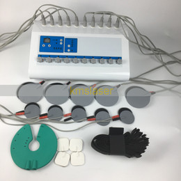 Wholesale Electro Muscle Stimulation Machines - 2 in 1 Far Infrared Heating Pad EMS Russian Wave Electronic Muscle Stimulator Electro Stimulation EMS Fitness Machine For Body Slimming