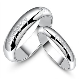 Wholesale Cheap Couples Ring - USA male 6-11# female 4-8# Wholesale Titanium steel Ring King star ring Platinum couples ring Fashion Cheap Ring Good Jewelry Gift STR084