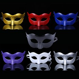 Wholesale Decorating Masks - Halloween Venetian men Mask Classic role-playing party decorating mask half eye gold silver Masks for men and women masquerade mask