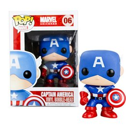 Wholesale Shaking Head Dolls - Zorn toys-Funko POP Marvel The Avengers: Captain America PVC Shaking his head doll toy Decoration