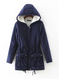 Wholesale Fur Lined Winter Long Coat - Parka Coat Winter Women Jacket Winter Women Casual Outwear Military Hoodies Coat Fur Coats Female Hoodies Drop Free Shipping