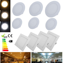Argentina Regulable 6W 9W 12W 15W 18W 24W EPISTAR LED empotrado Panel de techo Lámpara de bombilla Lámpara de panel Led super-delgada Luces redondas / cuadradas 110-240V cheap ceiling recessed light Suministro