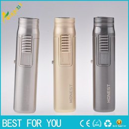 Wholesale mini torches lighters - New arrival Mini windproof torch lighter gas jet inflatable lighter with retail box also offer grinder smoking pipe USB lighter