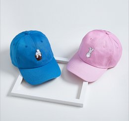 Wholesale Summer Shade Hats - 2016 New rabbit fur ball cute embroidery baseball hat tide Benn shade lovers male and female hip-hop hat