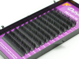 Wholesale Eyelash Extension Individual B Curls - High quality eyelash extension mink individual extension hair false eyelashes 6 pcs set Curl B C D