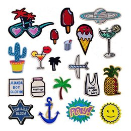 Wholesale Decorative For Hats - New Embroidered 20 Designs Sew on Small Patch for Clothing Hat Shoes Bag Decorative DIY Accessories Appliqued