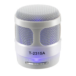Wholesale Large Plastic Button - T-2315A Wireless Bluetooth Speaker With Led Light Support USB  TF FM Large Volume For Apple And Android Smart phones