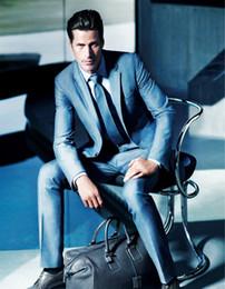 Wholesale Teal Suit Men - Wholesale-Modern Fit Groom Tuxedos Teal Handsome One Buttons Formal Groom Wear Suits Best Men Blazers(Jacket+Pants+tie)