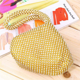 Wholesale Diamante Clutch Bags - Triangle Shape Day Clutch Women Evening Bag diamond Wristlet Purses Tassel Small Handbags Herald Fashion New Arrivals