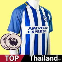 Wholesale Uniforms Dhl - Thailand quality Brighton football shirt 2017 2018 soccer jersey 17 18 Hove Albion Brighton football uniforms shirt 10 piece Ship DHL