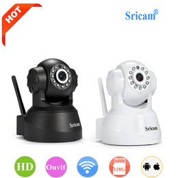 Wholesale Long Range Wireless Security Cameras - Newest Sricam IP Camera WIFI Onvif P2P Phone Remote 720P Home Security Baby Monitor 1.0MP Wireless Video Surveillance Cameras +NB