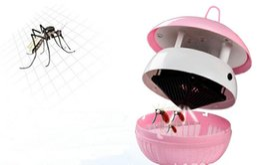 funghi Sconti Lampade Mosquito Kille USB Interface LED Mosquito Killing Lights camere da letto a luce notturna a forma di fungo a forma di lampada 6 LED materiale ABC