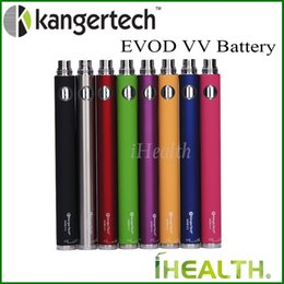 Wholesale Ego Twist Vv Battery - Kanger EVOD VV Battery 1000mah Kangertech Evod Variable Voltage eGo Twist Battery 8 colors 100% Original