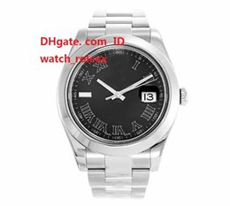 Wholesale Mens Watches Roman Numerals - Mens High Quality Luxury AAA Watch 116300 41 MM Steel Oyster Black Roman Numeral Movement Automatic 2017 Basel Wristwatches