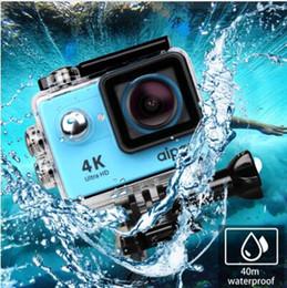 Wholesale Action Shot Waterproof - Aipal H9 H9R Action Camera Ultra HD 4K 30fps Sport Camera 1080P 60fps WiFi 2.0LCD 40m Waterproof mini camera sports DV