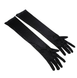 Wholesale Pair Quilts - !!!Dress up Cosplay Photo Props Long Satin Opera Gloves (1 Pair,Black) Gloves & Mittens Cheap Gloves & Mittens