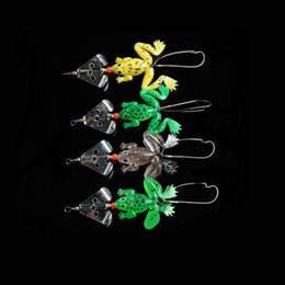 2019 señuelos blandos de crankbait Lot Rubber Frog Señuelos de pesca suaves Bass CrankBait Sinking 3D Eye Fishing señuelo 9cm 3.54