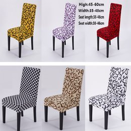 party chairs wholesale 2018 - DHL Free Stretch Banquet Chair Cover Slipcovers Dining Room Wedding Party Short Chair Covers Home Textiles SH-C01