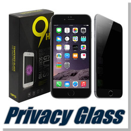 Wholesale Privacy Screen Protector Galaxy - For iphone X 8 7 7 plus 5 5s Samsung Galaxy S5 S6 S7 Note 4 5 LG G6 Aristo Privacy tempered glass Anti-spy screen protector