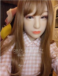 Wholesale Make Sexy Doll - (Luxury Custom Spring Gilr Makeup With DMS Mask Rose! Silicone Sexy Female Crossdress Half Face Mask Corssdresser Doll With Wig)