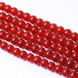 Wholesale necklace agate - Vintage Red Natural Stone Beads Diy Funny Creative For Jewelry Making Bracelets Necklaces Charms CraftsBabody 6 8 10 12 14 mm