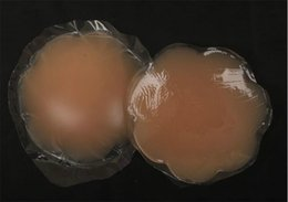 Wholesale Sexy Breast Pasties - 20pair lot opp package Silicone Pasties Nipple Cover Breast Pads good glue flower and round sexy lingerie Bring It Up Breast Shaper 7cm