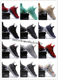 Wholesale Ash Canvas Sneakers - 2018 Top Quality LeBron 15 Vachetta Tan For Sale Real Zoom LeBron 15 Ashes Mans Basketball Shoes Space LBJ Jams Running Sneakers 897648-002