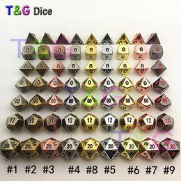 Wholesale international chess - Wholesale- TOP Quality NEW Metal 7 Dice set d4 d6 d8 d10 d% d12 d20 for Board Game Rpg Dados juegos de mesa dungeons & dragon dice