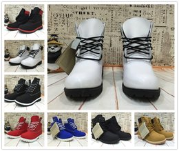 Wholesale White Microfiber Fabrics - NEW 2016 Classic 10061 TBL Boots Cow Leather Mens Retro Waterproof Outdoor Hiking Shoes Leisure Ankle Winter Snow Boots Size 40-45