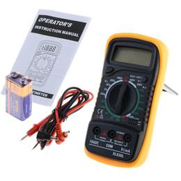 Wholesale Multi Tester Digital - Wholesale- XL830L Digital Multimeter Portable Multi Meter AC DC Voltage Meter DC Ammeter Resistance Tester With Battery VEC80 T15 0.1