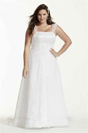 Wholesale Natural Overlay - A-Line Plus Size Wedding Dress with Cap Sleeves Embroider With Beading 9V9010 Chiffon Split Front Overlay Bridal Gown