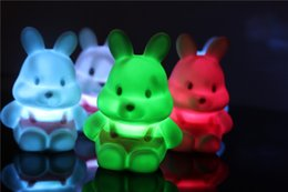 Wholesale Colorful Lighting Direct - Factory direct wholesale new button-style bedside atmosphere festive gift cartoon toy radish rabbit colorful night light