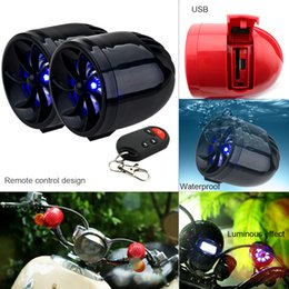 Wholesale Motorcycle Mp3 Theft Audio - 1 Pair 14W Motorcycle Waterproof Anti-theft MP3 Speaker Support AUX-IN Audio Input and USB   TF for Motorcycle and Scooter MBA_50A