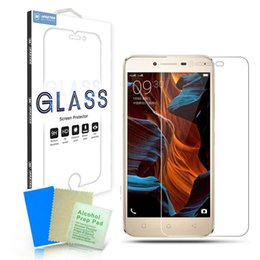 Wholesale Temper B - Tempered Glass Screen Protectors Explosion proof Protective Film Guard For Lenovo Vibe P2 B C A2020 ZUK Z2 Pro K6 Note Power A6600 Retailbox