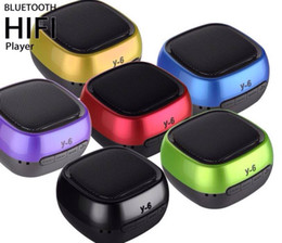 Wholesale Tf Card Buy - Y-6 Bluetooth Speaker Mini Portable Bass Wireless Hi Fi Player Speakers Support TF Card Hands Free Function for phone Q88 DHL FREE Buy