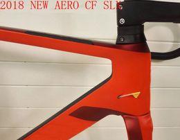Wholesale Carbon Bike Handlebar Aero - 2018 NEW black red T1000 UD AERO CF SLX full carbon road bike frame racing bicycle frameset frames with aero handlebar spacer made in taiwan
