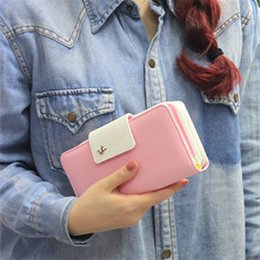 Wholesale Female Business Casual - 2017 Fashion Leather Women Wallets Long Zipper Patchwork Coin Female Purse With Bird Hasp Card Holder Clutch Money Phone Bag