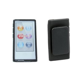 Wholesale Nano Belt - New Hybrid TPU Rubber Silicone Gel Soft Case Cover Holster With Clip For Apple iPod Nano 7 7th Generation 7 7G Belt Clip cases