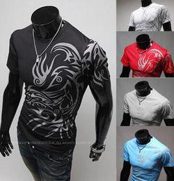 Wholesale Tatoo Sale - Hot Sale New 2016 Fashion Brand T Shirts for Men Printing Tatoo tees tops Male T Shirts short sleeve T-shirt YY 1399-Q26