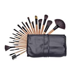 Sistema de cepillo profesional del maquillaje de 32 pc online-Nueva Itme Profesional 32 piezas pincel de maquillaje maquillaje Limpieza en seco Kit de lana Marca compone el sistema de cepillo del caso