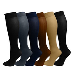 Wholesale Sport Compression Leg - Compression socks for men and women Leg Socks Anti Fatigue Compression Stocking mens sports socks 6 colors