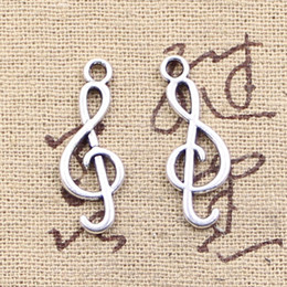 Wholesale Musical Charms Bracelets - 200pcs Charms musical note 25*9mm Antique Making pendant fit,Vintage Tibetan Silver,DIY bracelet necklace