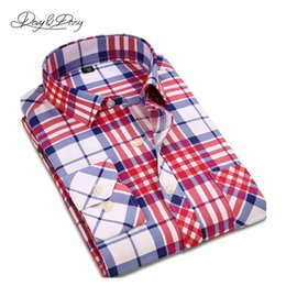 Wholesale Assorted Clothing Wholesale - Wholesale- Chemise Homme Men Shirts 2016 Autumn Dress Long Sleeved Fashion Classical Assorted Plaid Shirt Men Casual Brand Clothing DS-109